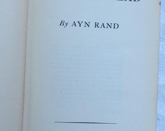 1st Edition Printing 1943 The Fountainhead by Ayn Rand Published by The Bobbs-Merril Co Green Cloth Board