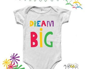 Dream big onesie, baby clothes girl, colorful onesie, newborn baby girl outfits, newborn boy gift, baby jumpsuit, newborn boy onesie