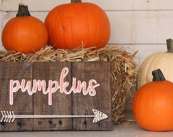 Pumpkin String Art- Fall String Art- Pumpkin Arrow Sign- Pumpkin String Sign- Fall Pumpkin Sign- Autumn Decor- Pallet Sign- Pumpkin Sign