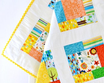 Quilt Baby Quilt Handmade, Patchwork Quilt, Baby Blanket, Baby Play Mat, Baby Shower Gift, Baby Gift, Baby Girl, Flowers, Patchwork, Blanket