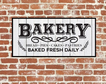 Bakery Sign, Bakery Vector, Bakery Print SVG, Cuttable, SVG, Vinyl, Sticker, Digital File, DXF, Scalable, Print, Cut File