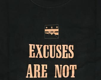 Excuses Are Not Working Tools, Men's T-Shirt, Black