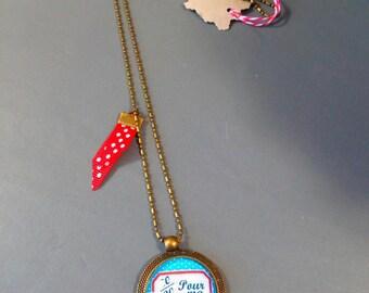 "Fantasy ""Mistress 20 20"" necklace * bronze chain *."