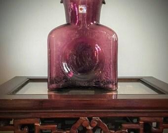 Amethyst Blenko Glass Pictcher