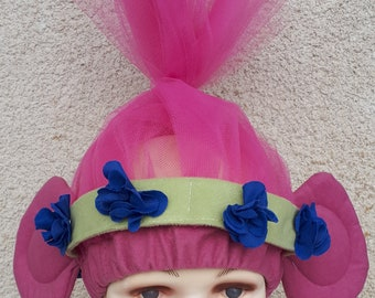 Poppy troll costume for toddlers, kids and adults