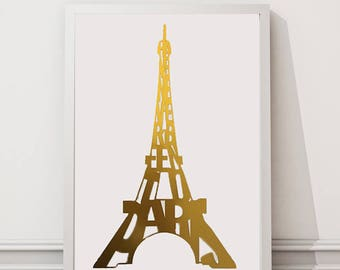 Paris Gallery Wall Art Optical Illusion Eiffel Tower Art Print // I Have Never Been To Paris Funny Basic Gift // Paris is Always a Good Idea