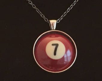 "Necklace - # 7 Pool Ball  (16""-24"")"