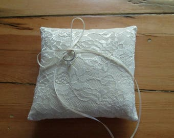 ring bearer pillow lace ring pillow wedding cushion ring bearer wedding pillow - Wedding Ring Pillow