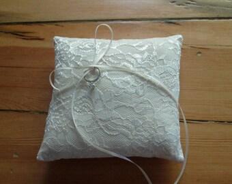 Ring Bearer Pillow - Lace Wedding Pillow - Ring Bearer - Wedding Pillow - Ring Bearer Pillow - Church Wedding- Barn Wedding- Elegant Wedding