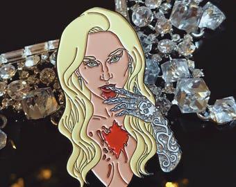 Countess Vampire Woman Enamel Pin
