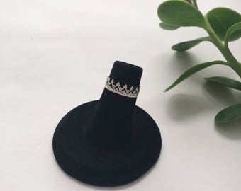 Crown Midi Ring | Sterling Silver