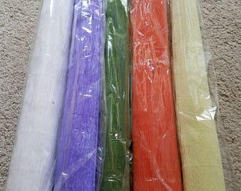Crepe paper rolls bundle of 5