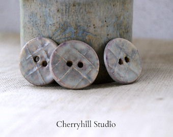 Ceramic Buttons, Large Round Ceramic Buttons, Ceramic Embellishments, Buttons, Sew on Buttons, Haberdashery