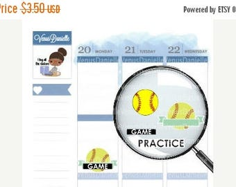 On Sale Softball,Practice Planner Stickers, Softball Stickers,  Softball Games, Softball Practices, Softball Tournaments, Sports Stickers,