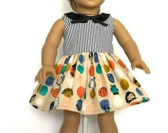 American Made Girl Doll Clothes, American Made Clothes for Dolls, American Made Doll Clothes, 18 inch Doll Clothes, Doll Dress, Doll Dresses
