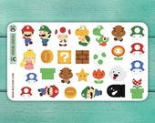 27 Mario Stickers / Planner Stickers / Decorative Stickers