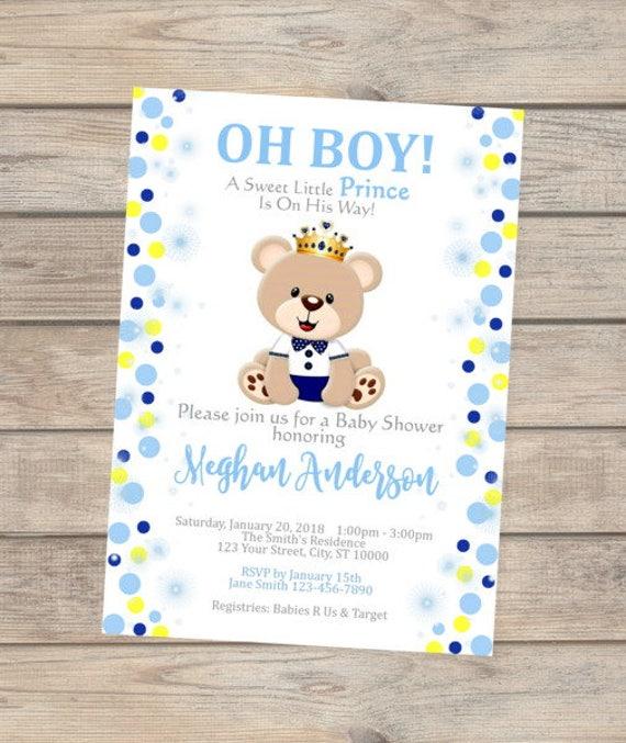 Prince baby shower invitation teddy bear baby shower invitation il570xn filmwisefo
