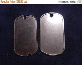 Easter Sale Vintage Vietnam War era Blank US Army Dog Tags