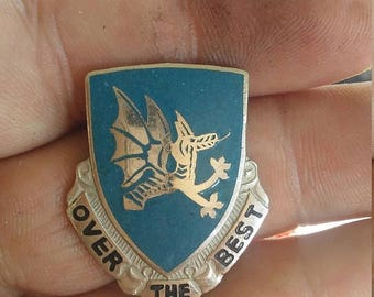 Easter Sale Vintage 15th Aviation Battalion Unit Crest Insignia