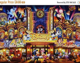 "Dream Theater counted Cross Stitch disney Pattern needlework needlepoint needlecraft - 31.50"" x 21.71"" with aida 14 - L888"