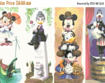 """disney haunted mansion Counted Cross Stitch haunted mansion Pattern disney needlepoint - 19.71"""" x 12.36"""" - L1121"""