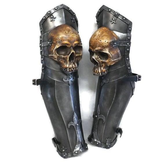 Larp Armour Ominous Skull Legs