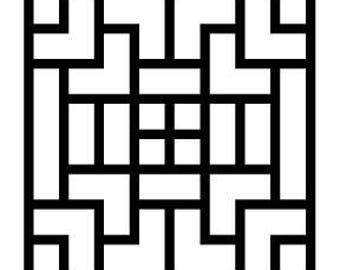 Geometric  Set of 4 Coasters