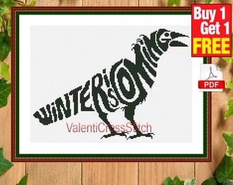 Game of thrones Cross Stitch Pattern, Winter is coming, Cross Stitch, Pattern, Patterns, #sp 172