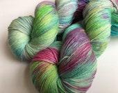 Hand dyed yarn Tough sock -'Watercolours'