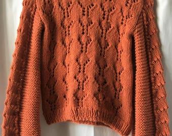 Openwork alpaca sweater