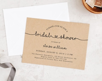 Bridal Shower Invitation, Printable Bridal Shower Template, Miss to Mrs, Shower Invite, Baby Shower Invitation | Edit in Word or Pages
