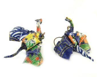 Origami earring drake ( dragon )