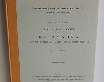 The Rock Tombs of El Amarna Part VI Davies Hardcover 1975 Egypt