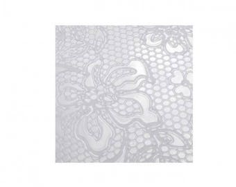 Lace texture plate