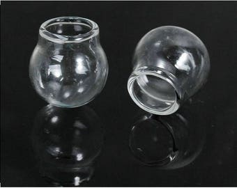 3 globes glass 24x20mm