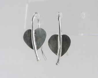 Silver Heart Earrings, Sterling Silver Hearts, Minimalist, Bridal Jewellery, Bridesmaids,