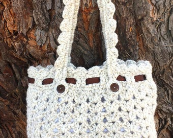 Handmade Crochet Handbag, Crochet Purse, Shoulder bag, Women handbag