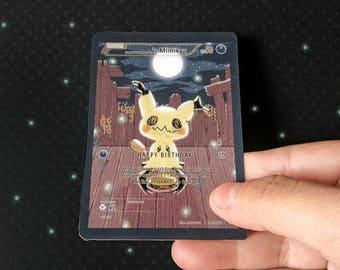 birthday Mimikyu ANIMATED pokemon card / magnet