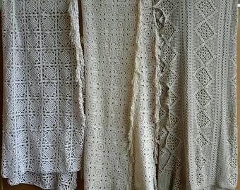 Crochet spread, bed leek crochet, brocante bedspreads, double bed leek, christmas gift, crochet blanket, shabby chic spread, boho beds leek