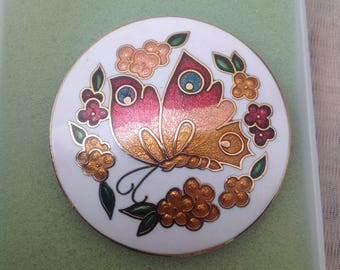 Original Vintage 1970's Enamel Butterfly Brooch