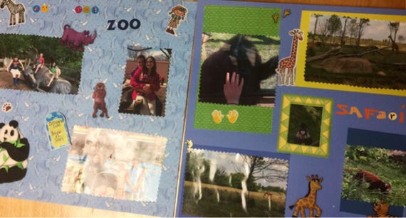 Scrapbooking: At The Zoo, 12x12 Premade Scrapbook Pages