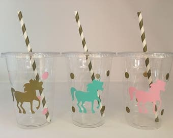 Unicorn party cups, Unicorn Birthday Party, Mystical Party