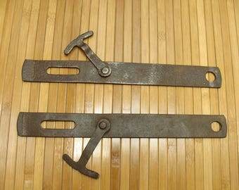 Vintage gate latch-matching gate latches-antique gate latches-barn door latch-fence gate latch-old metal latch-primitive gate latches