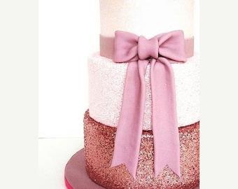 SUMMER SALE Rose Gold Cake Glitter | Fondant Wedding Cake Glitter, Edible Sprinkles (E044)