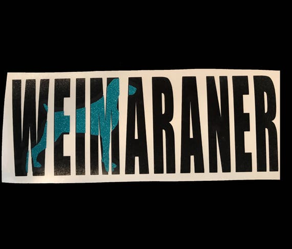 WEIMERANER decal for cars, laptops, devices etc | FREE shipping