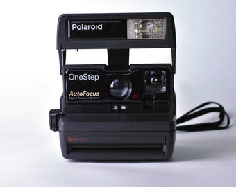 vintage polaroid onestep sx 70 white rainbow stripe instant. Black Bedroom Furniture Sets. Home Design Ideas