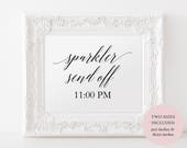 Printable Sparkler Send Off Sign - Wedding Sparklers Sign - Minimalist Wedding Sign - Instant Download Editable PDF - 8x10 and 5x7 - #GD0512