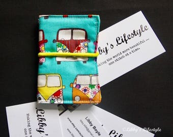 VW Kombi Camper credit card wallet. Handmade.