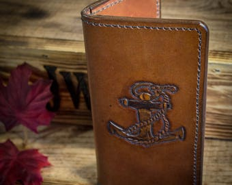 Leather Anchor Long Wallet
