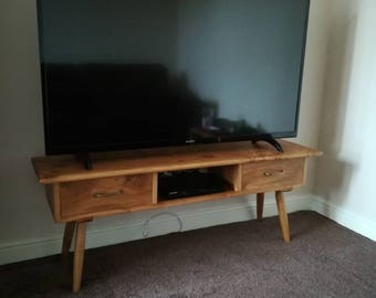 Hand crafted,solid oak, Mixed joinery tv unit.